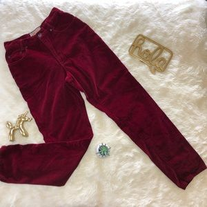 Carole Little Street Wear High Waist Velvet Pants